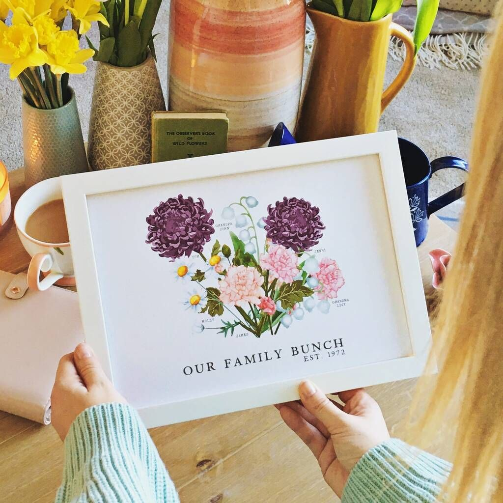 Birth Flower Family Print, Unframed in 2020 Birth