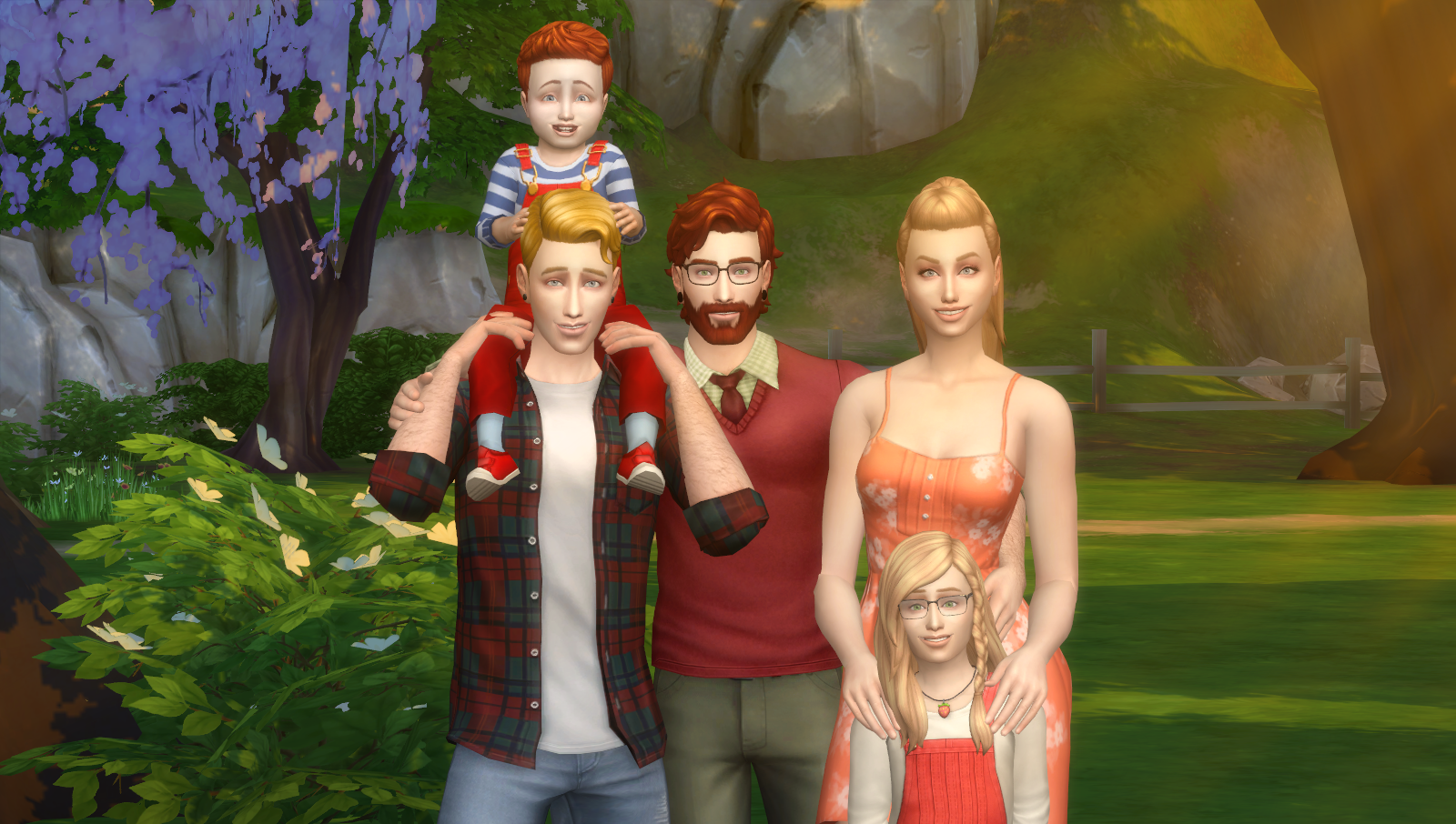Happy family pose pack set 4