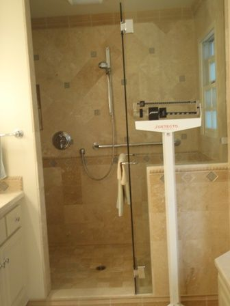 Learn how to clean travertine tile and a travertine shower for How to clean marble tiles in bathroom
