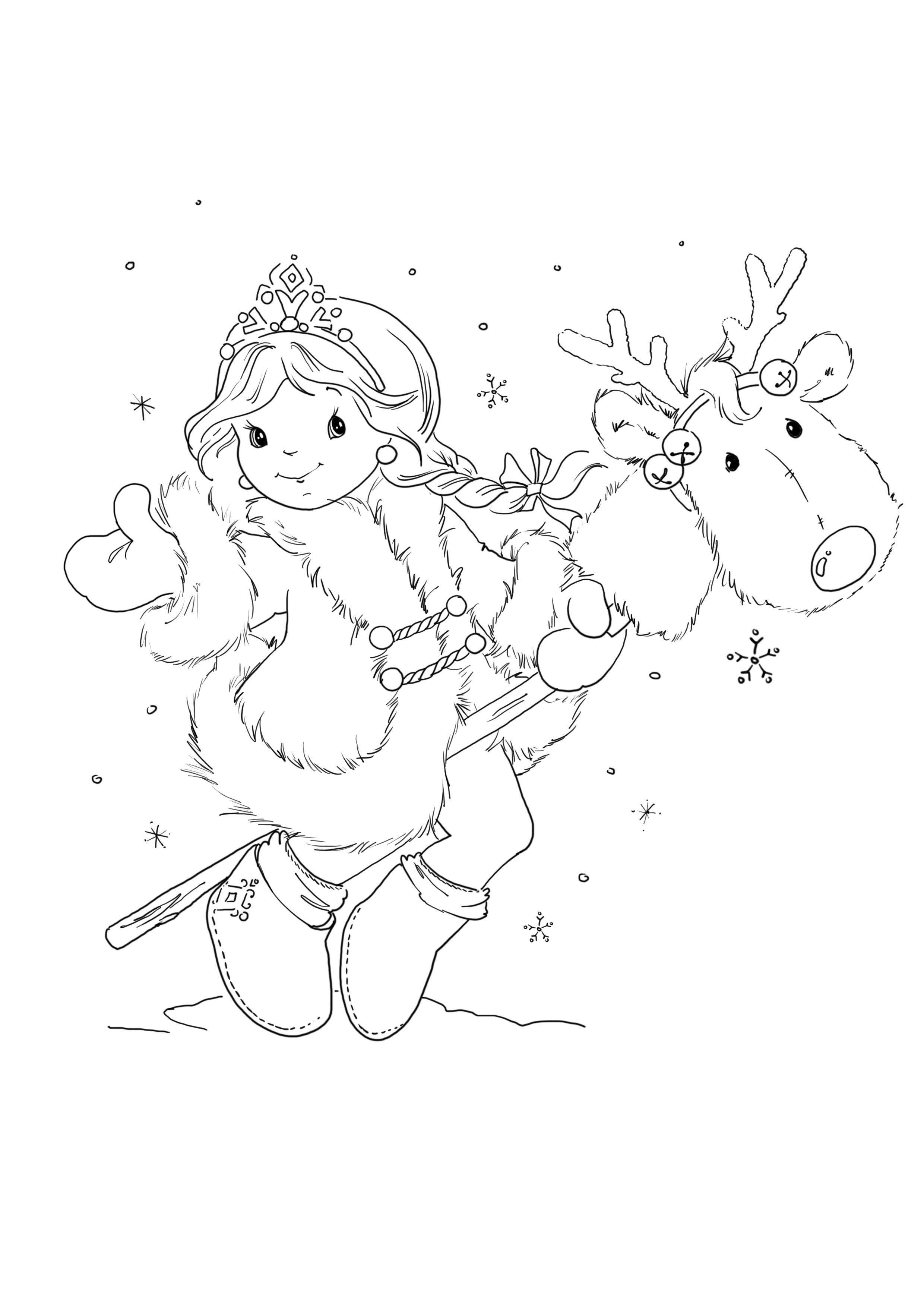 Mit Rentier   basteln   Pinterest   Colorear, Dibujo y Navidad