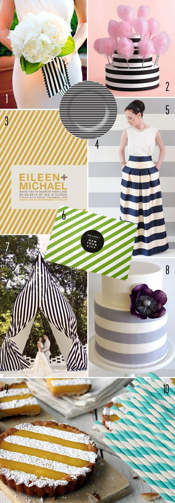 Top 10: Modern stripe details | Brooklyn Bride - Modern Wedding Blog