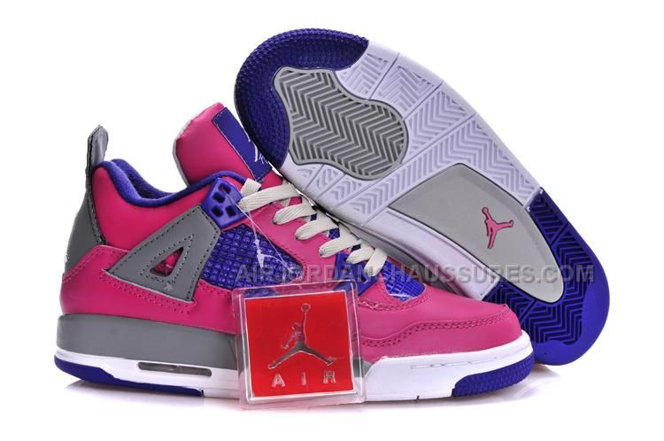reputable site fabce 83a89 Air Jordan 4 Retro GS Womens Pink Flash Pink Foil White Cement Grey  Electric Purple Womens Navy 487724 607 Nike Free For Cheap