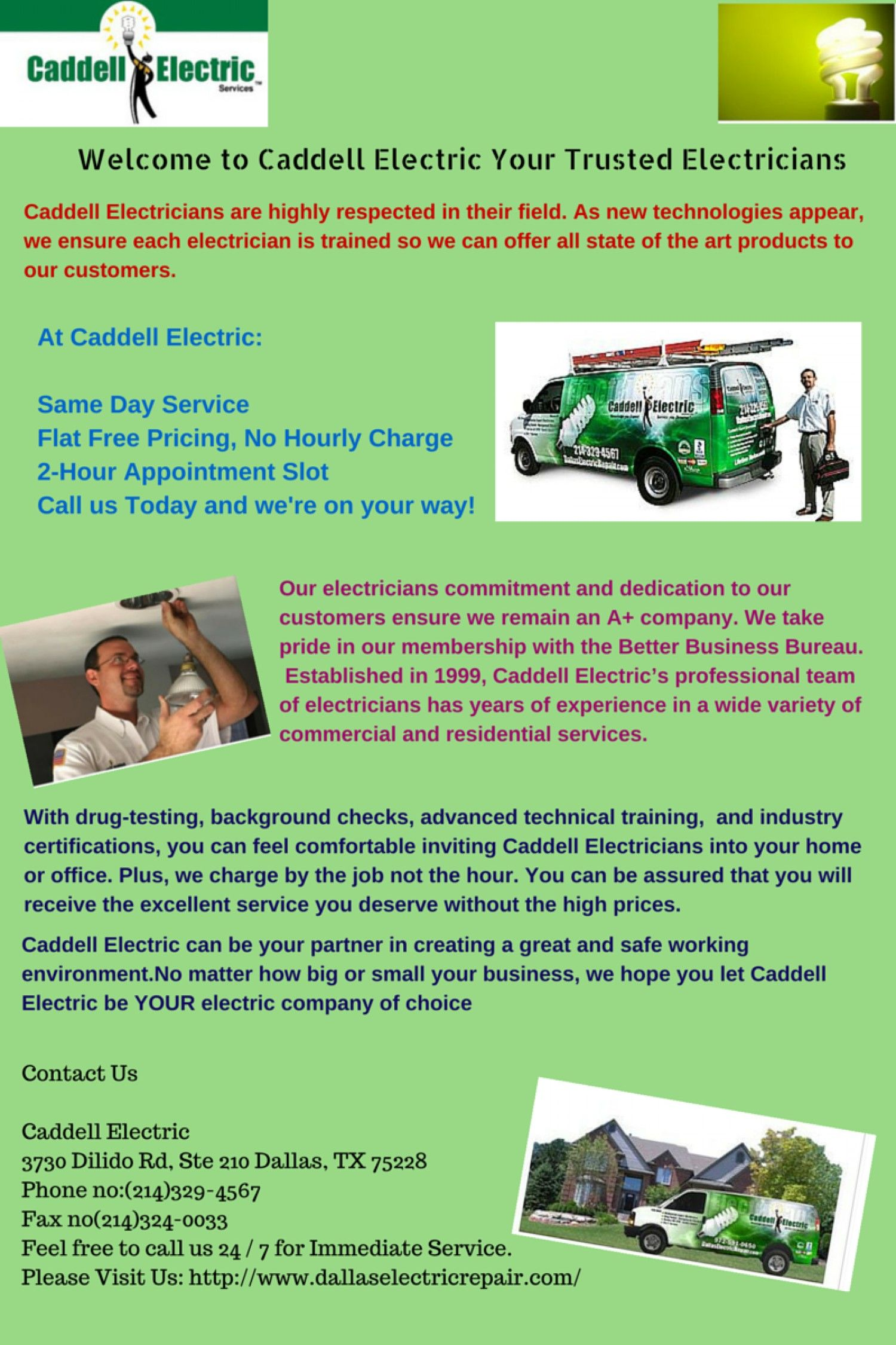 to Caddell Electric Your Trusted Electricians