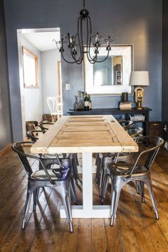 Turn An Old Door Into Your New Dining Room Table  Table Captivating Old Fashioned Dining Room Sets Design Ideas