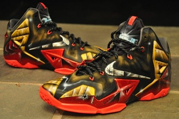 best cheap 86a0e 7d20c Nike LeBron 11 Mach 6 Ironman Customs by Dez Customz I need these NOW!