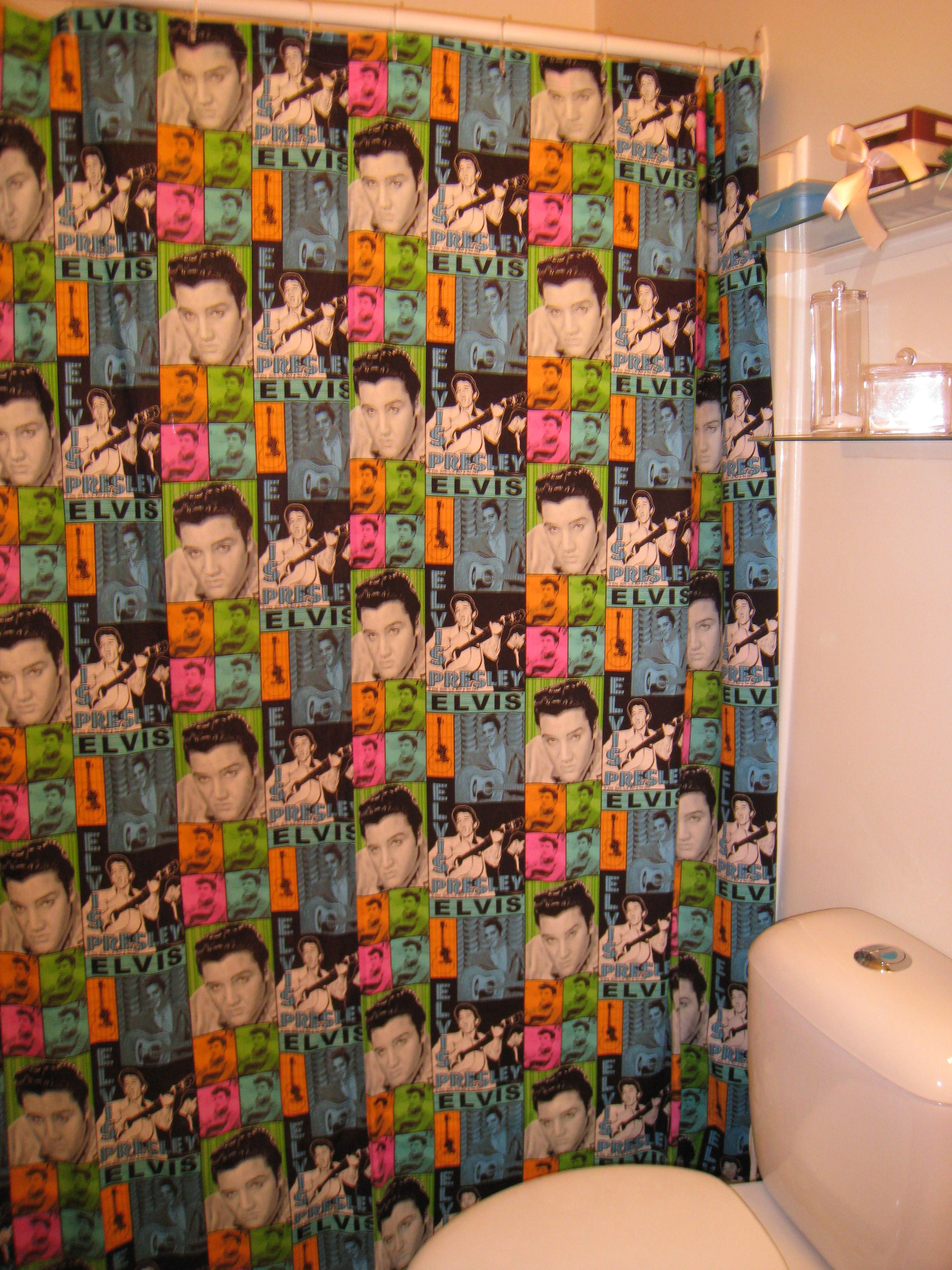 Elvis Shower Curtain Room Redo Curtains Shower Curtain