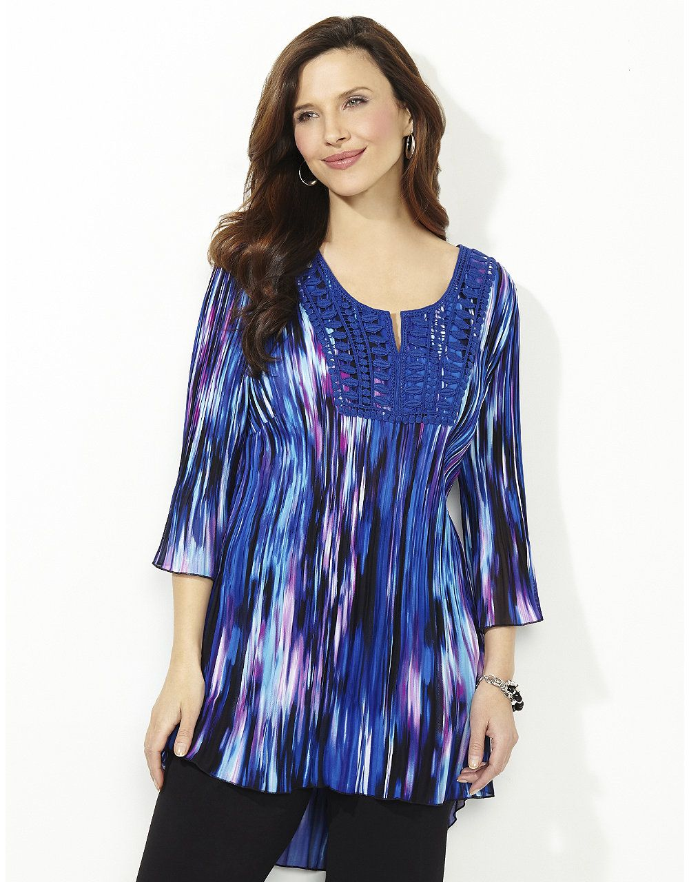ad57324292f1a Neon Waves Pleated Top