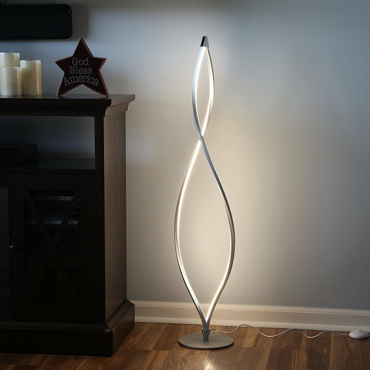 Details About Modern Led Floor Lamp Unique Twisted Lighting Dimmable Contemporary Light New Unique Floor Lamps Led Floor Lamp Floor Lamp