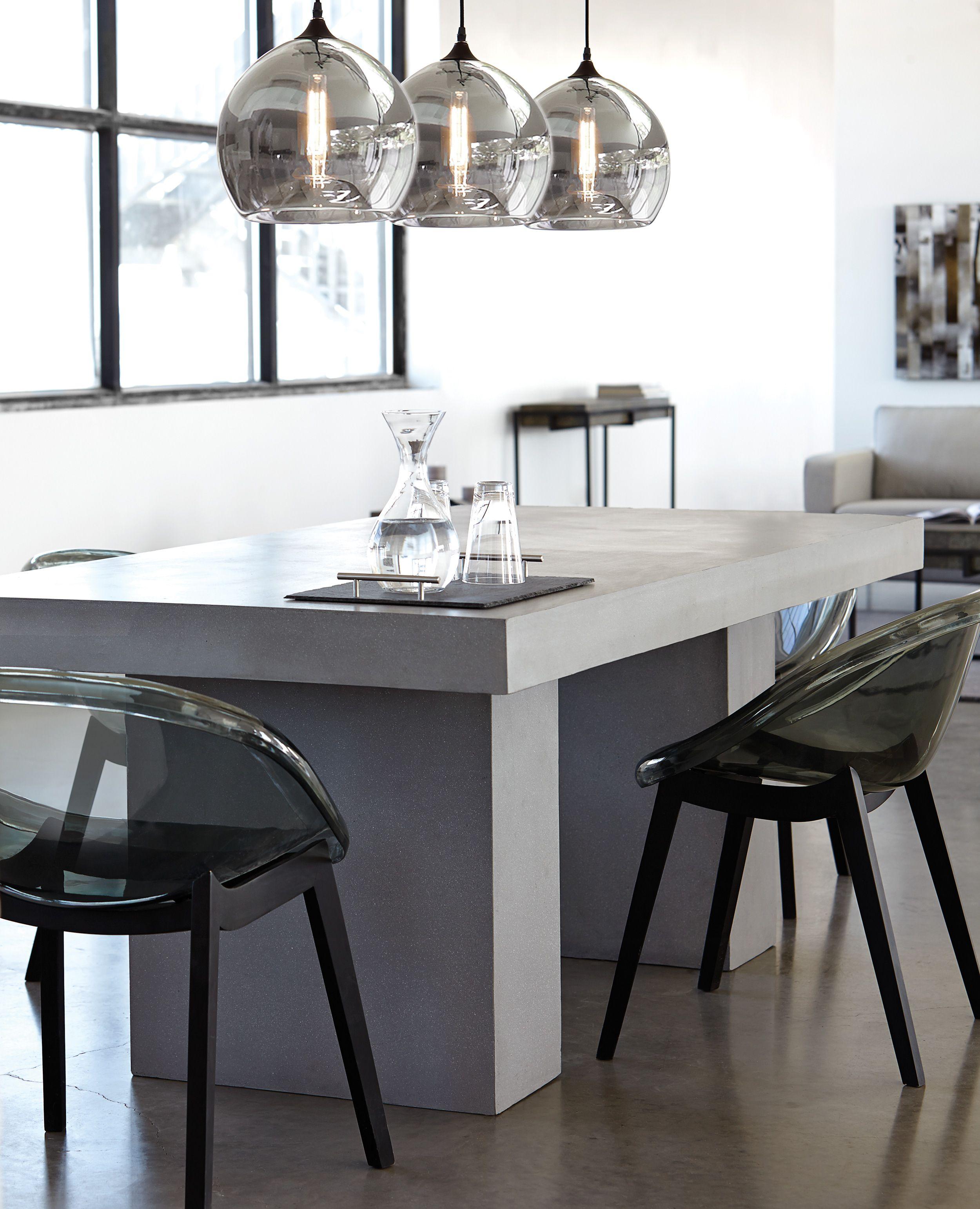 Monochromatic Dining Room Decor | Acrylic dining chairs ...