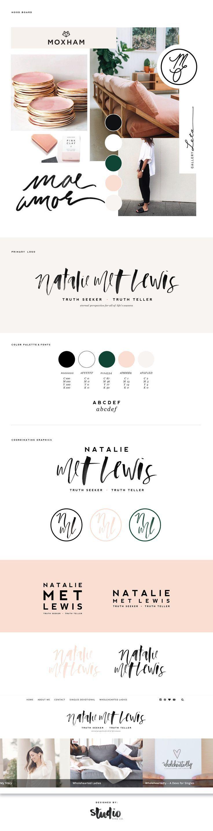 FINAL BRANDING BOARD for Natalie Met Lewis, by Studio 9 Co