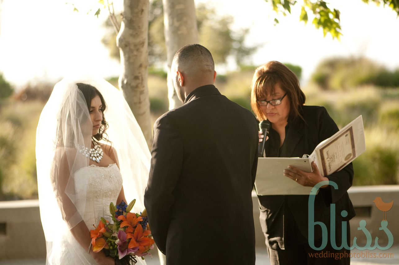 Here I am officiating a most beautiful Garden Wedding.