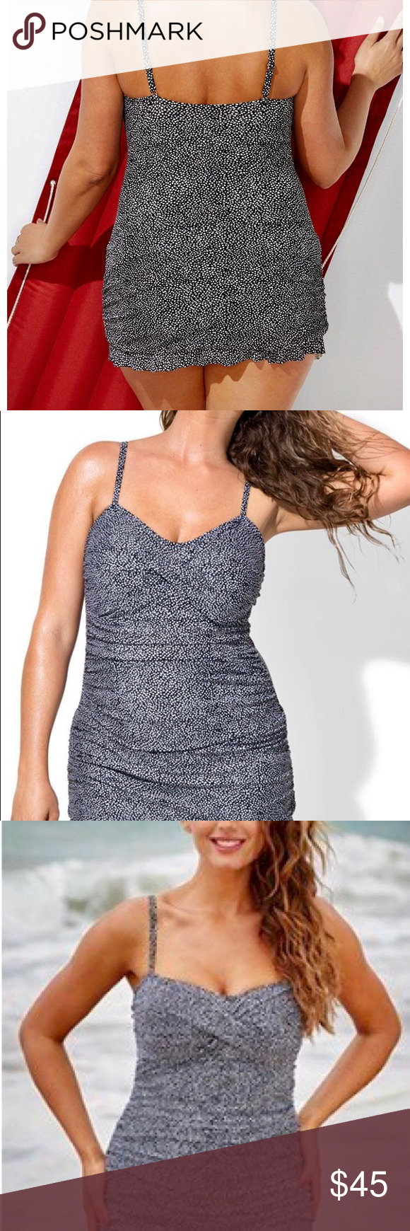 d3c65fc8566c0 Bedrock Crossover Ruffle Swimdress Brand new with tags, originally from  Swim Suits for All.