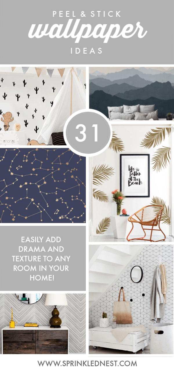 31 Peel And Stick Wallpaper Ideas Sprinkled Nest Interiors Kid Room Decor Bonus Room Design Kids Bedroom Decor