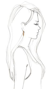 sketch of a girl from behind - Google Search