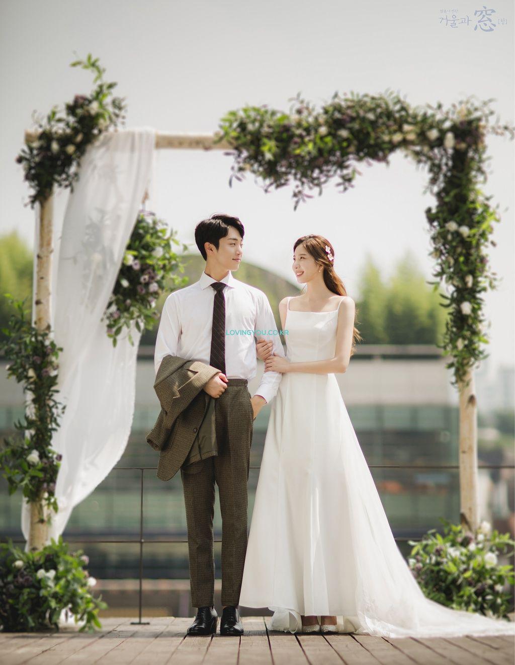 MIRROR & WINDOW [BLUE] Korean wedding photography, Pre