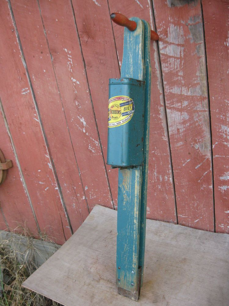 Vintage Hand Corn Wood Tin Seed Planter Farm Garden Awesome