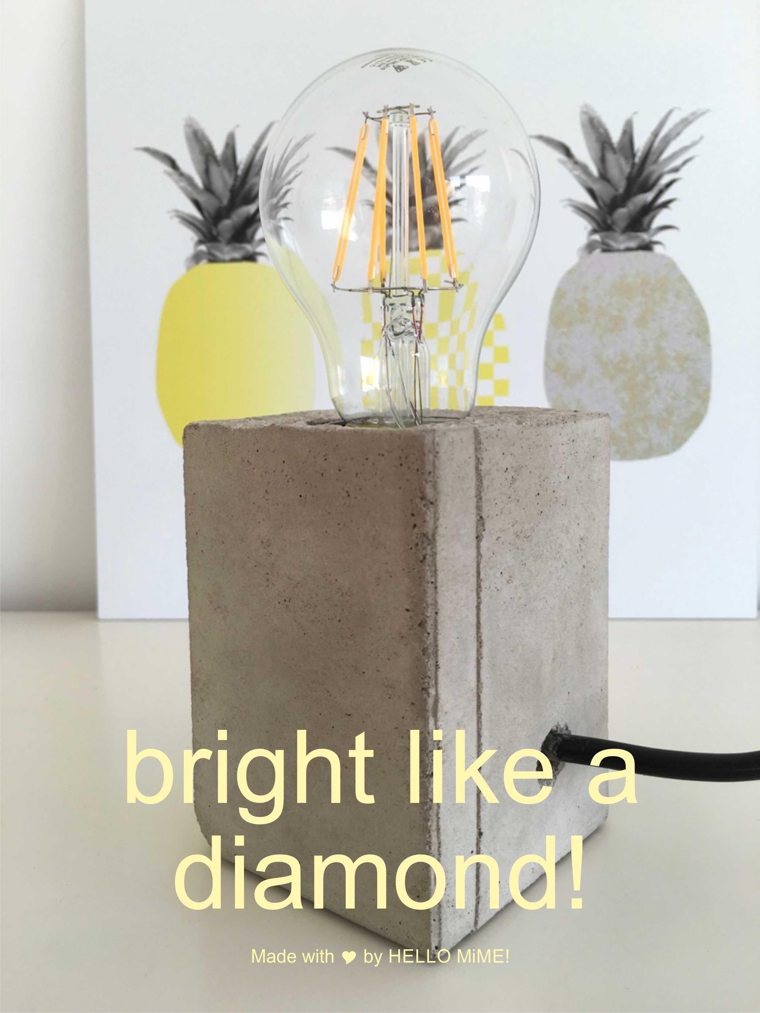 lampe mit sockel aus beton selbermachen beton pinterest lampen sockel und basteln. Black Bedroom Furniture Sets. Home Design Ideas