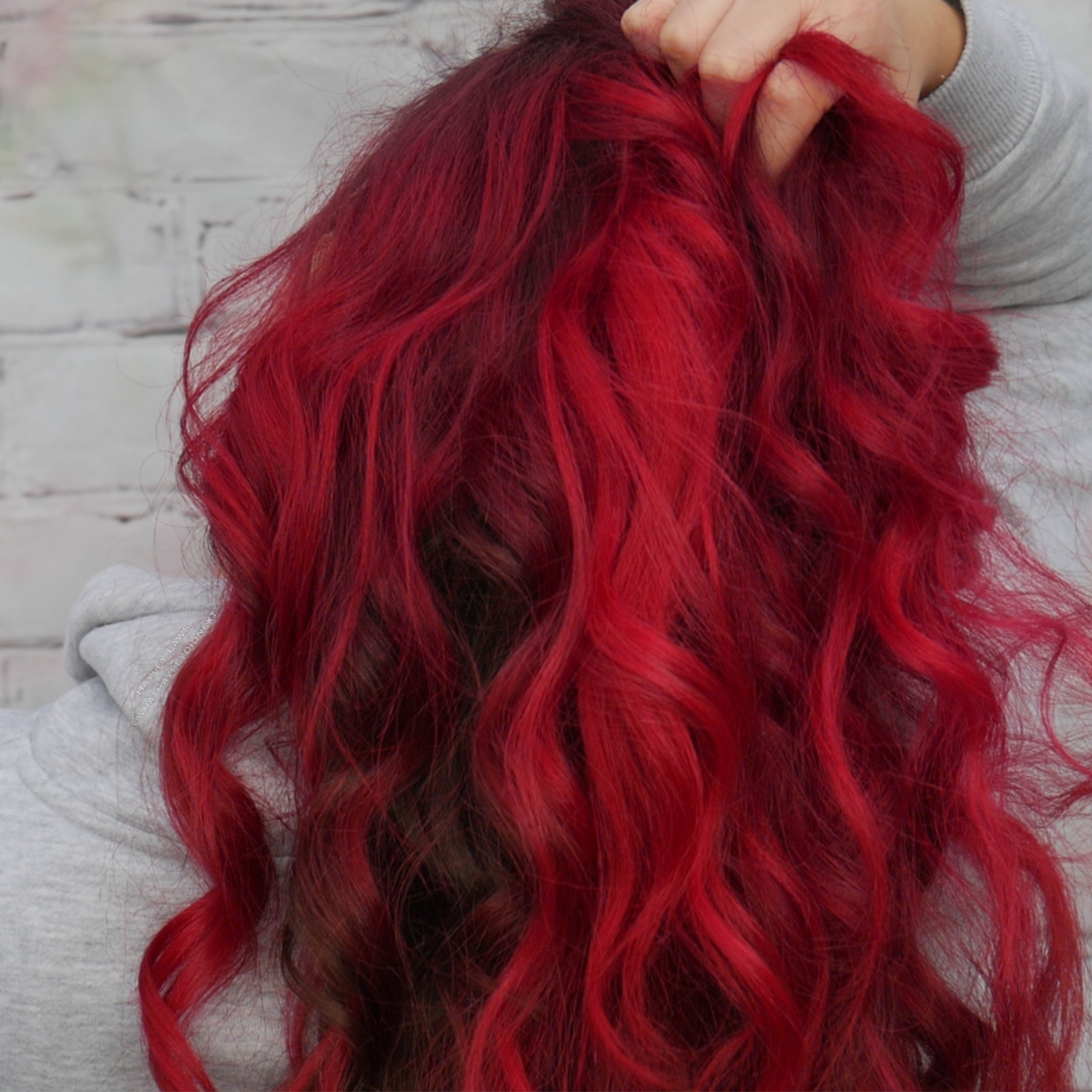 Manic Panic Red Head Vampire Red And Rock And Roll Ombre By Hayley Laws Brown Ombre Hair Color Ombre Hair Blonde Manic Panic Hair Color