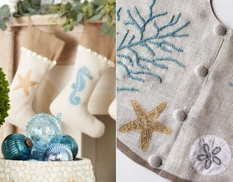 Christmas Decorations and Tree Ornaments with a Coastal Theme - coastal christmas decorations