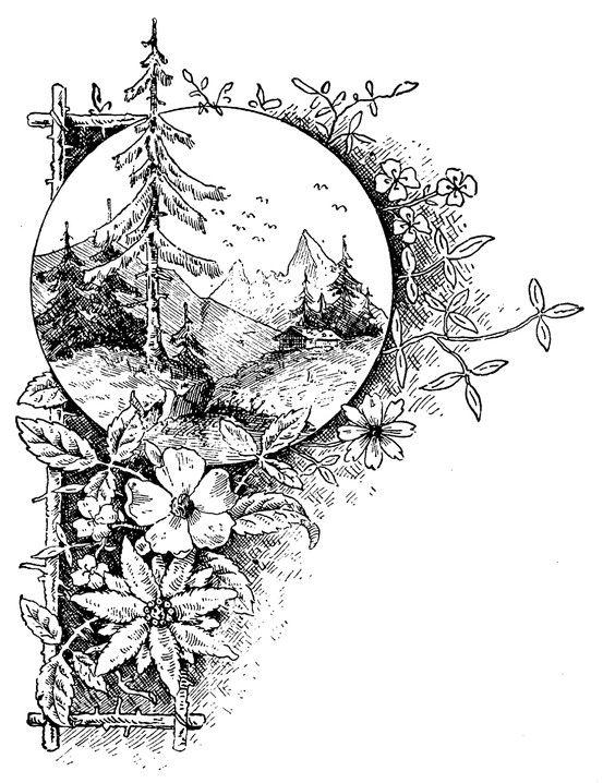 Lodge Look Antique Arts & Crafts Graphic