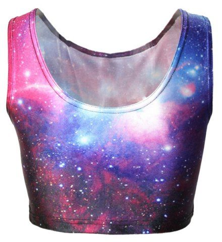 GET $50 NOW | Join RoseGal: Get YOUR $50 NOW!http://www.rosegal.com/vests/active-galaxy-printed-bodycon-cropped-401556.html?seid=7345709rg401556