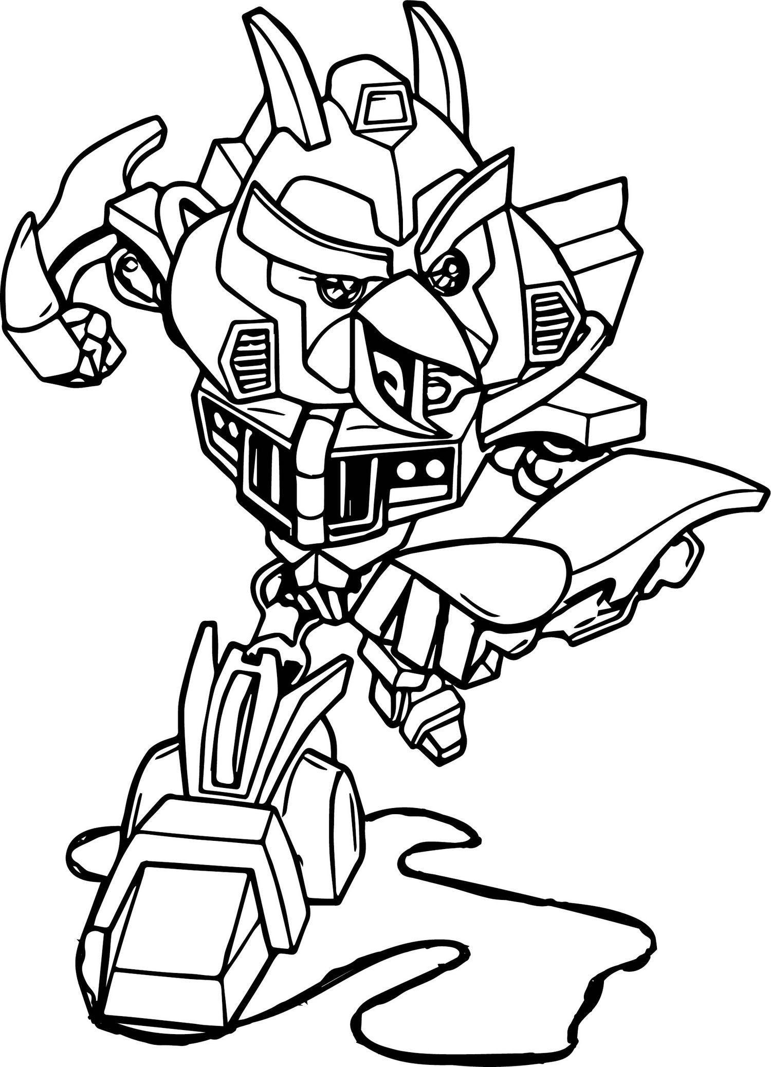 Angry Bird Transformers Bumblebee Coloring Sheet Kolorowanki