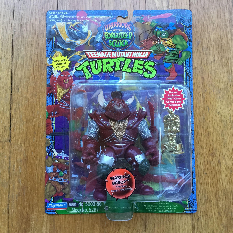 80´s BEBOP Totally Teenage Mutant Ninja Turtles TMNT PLAYMATES Mint on Card