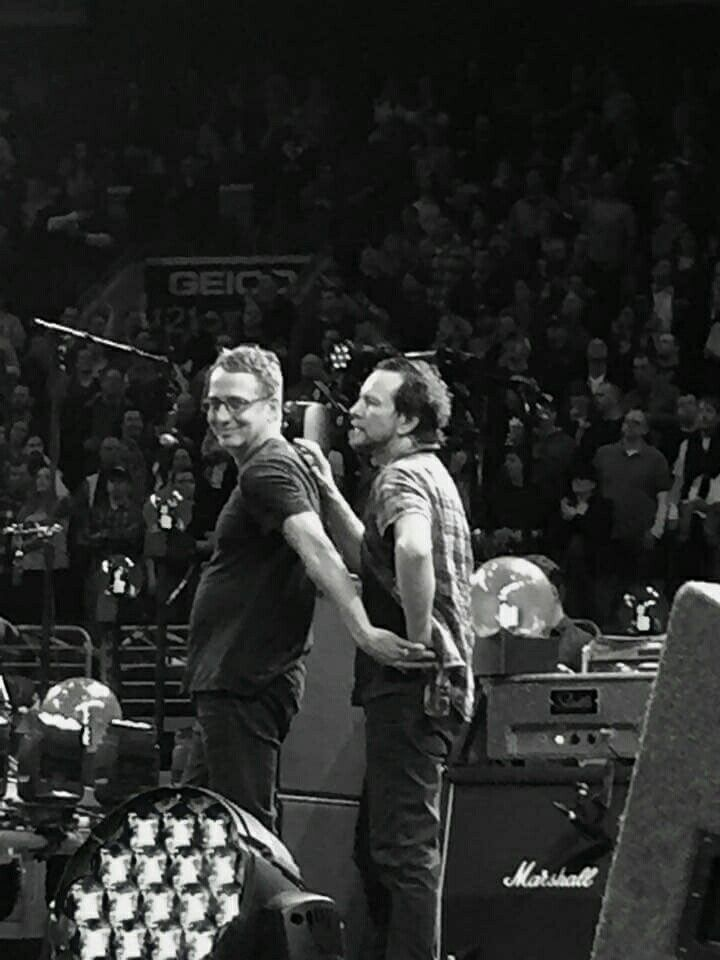 Ed & Stone sharing a moment in Philly.