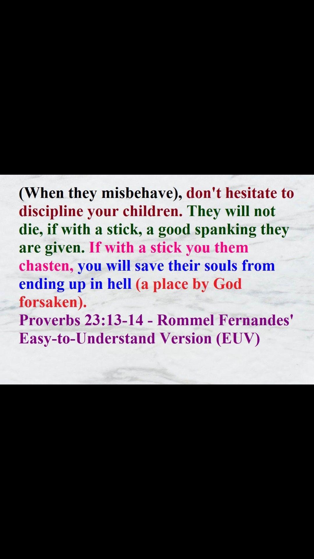 Proverb 23 13 14 Bible Knowledge Paraphrase Prov 19
