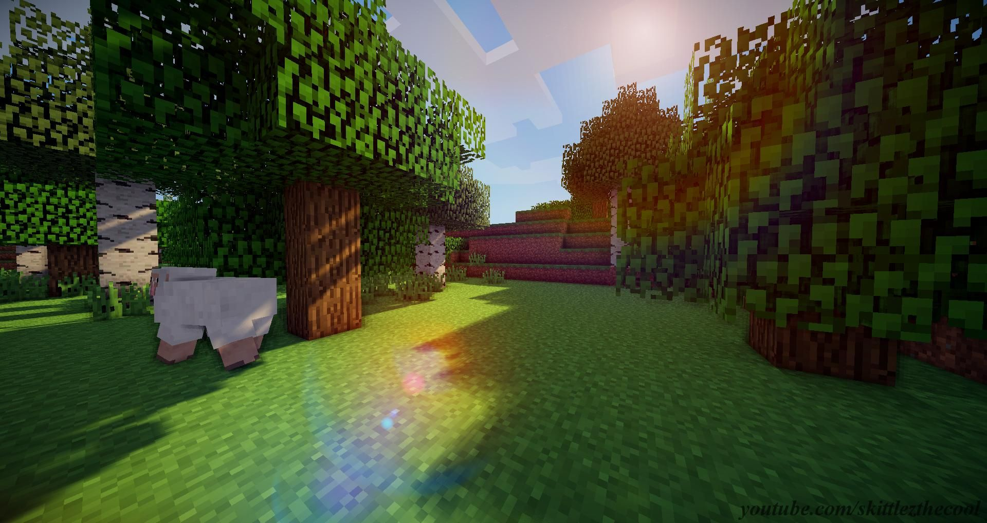 Minecraft Forest Biome Wallpaper W SHADERS