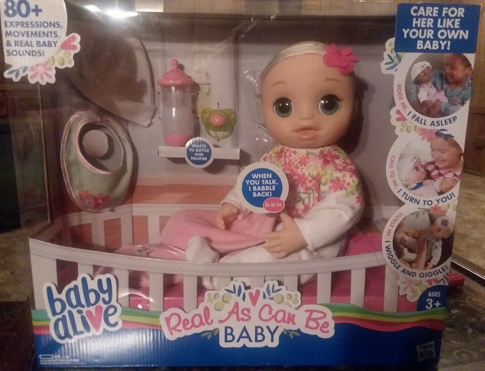 Baby Alive REAL AS CAN BE BABY DOLL BLONDE SCULPTED HAIR NEW IN BOX NEW RELEASE