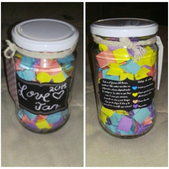 Totally Nailed It Love Jar With Little Love Notes In 4 Categories Like Lyrics Date Plans Reasons I Love U And So Jar Of Notes Love Jar Cute Couple Gifts