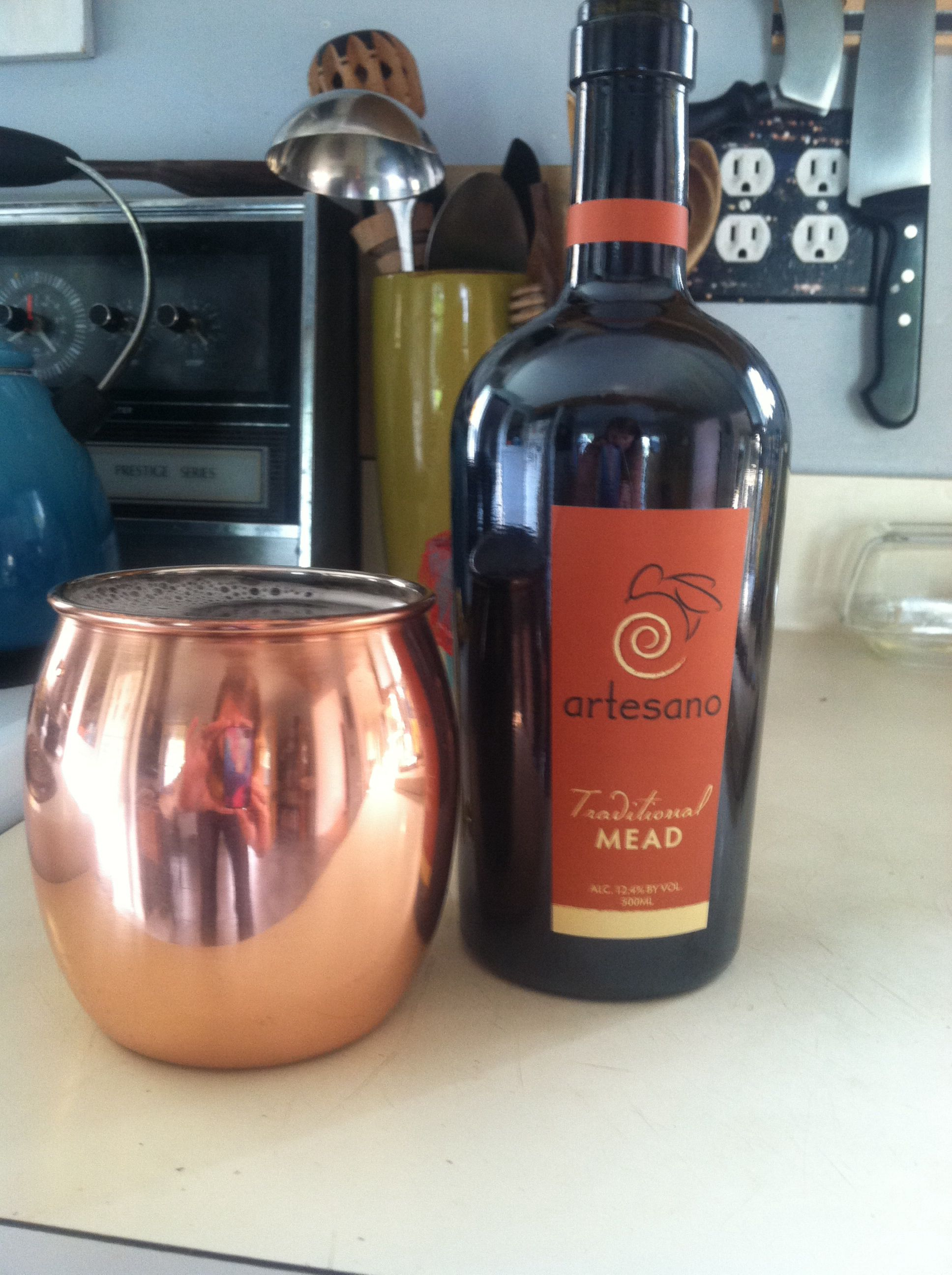 one bottle into one copper mug   weMessage   Pinterest   Bottle