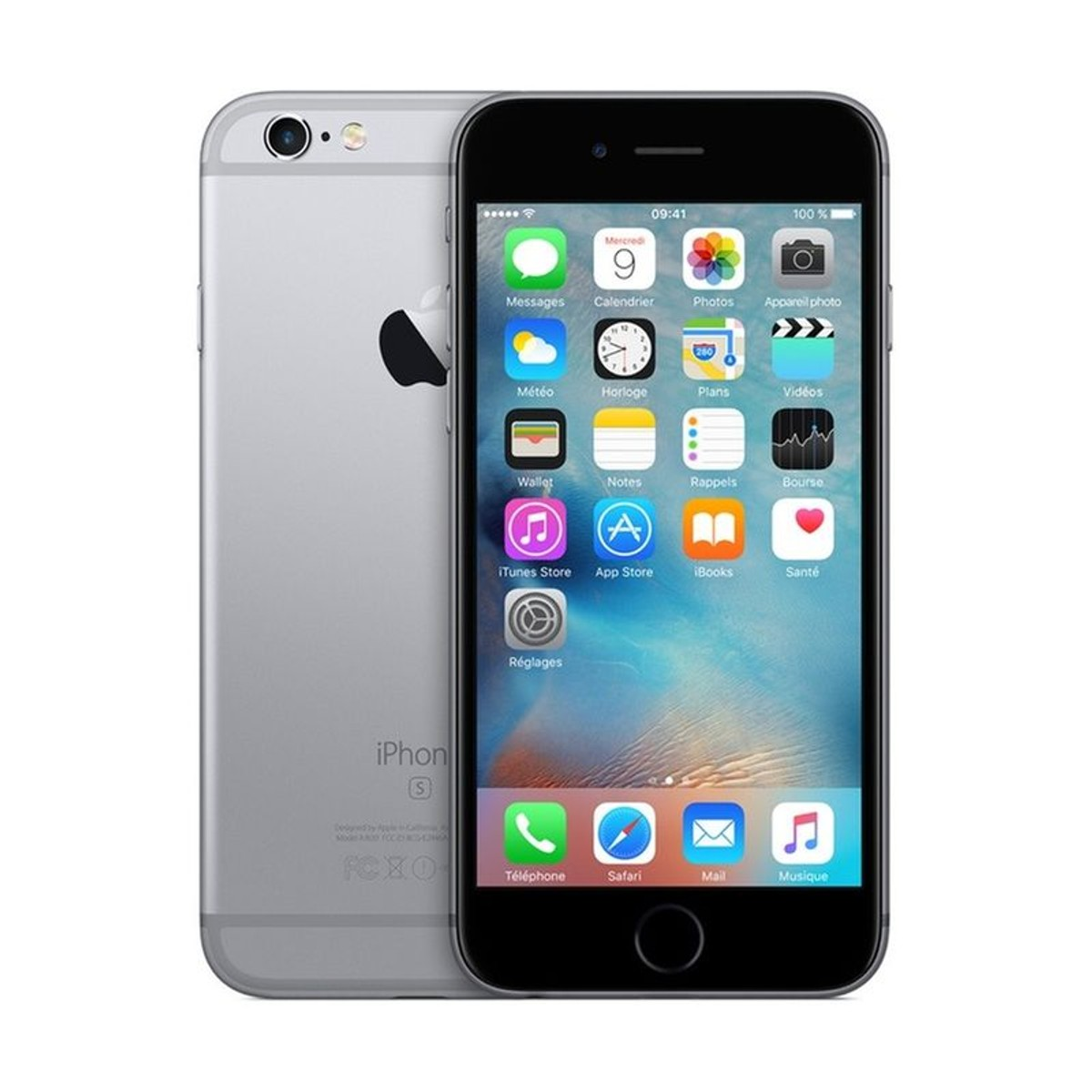 Smartphone Iphone 6s Space Gray 128go Taille Taille Unique
