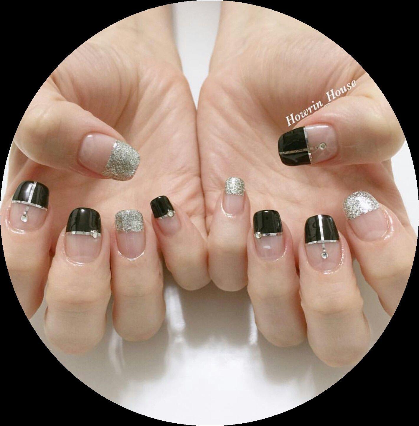 korean nail art gel nails design