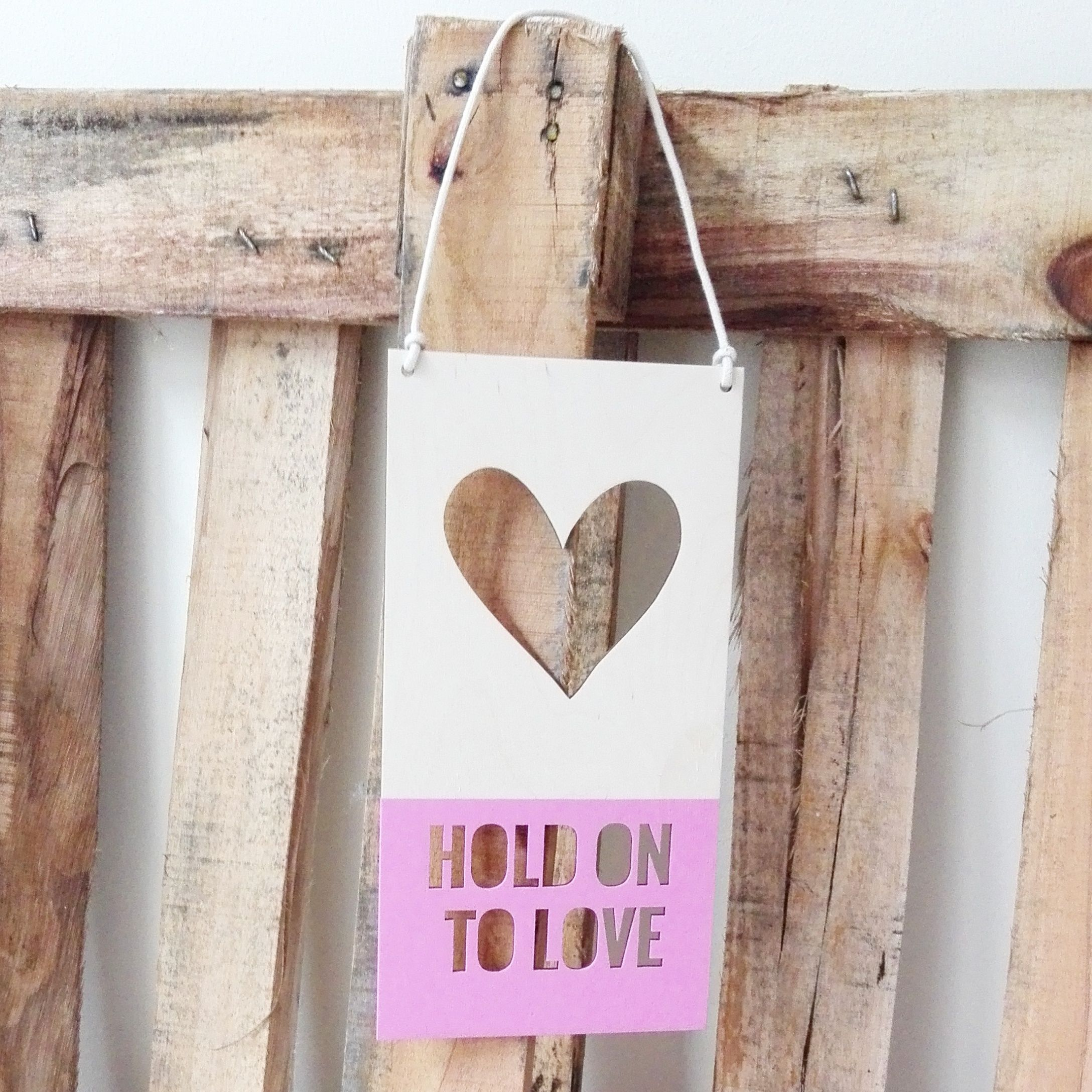 Hold on to #love!