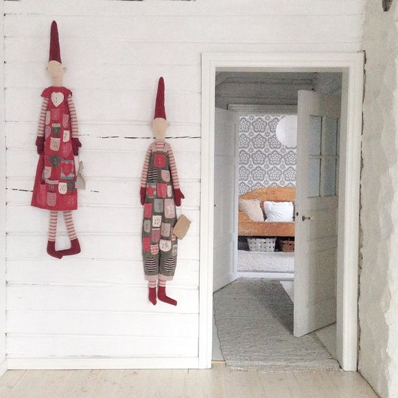 olohuone,maileg,hirsiseinä,hirsitalo,joulu