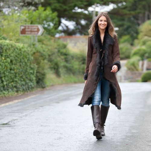 womens sheepskin coat - Google Search | Winter Warmth | Pinterest ...