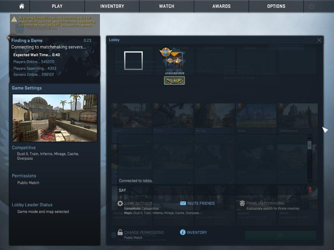 Cs go matchmaking server settings