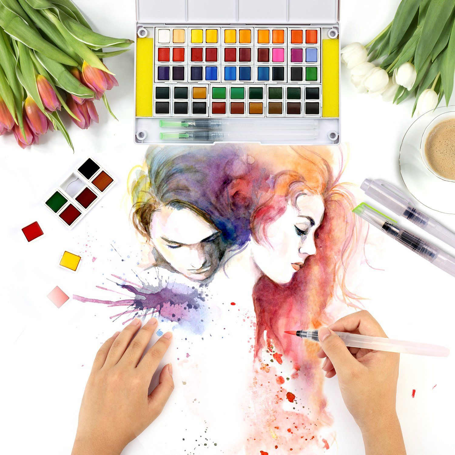 Paint Palette By Painterpeeps With Images Artist Palette