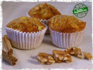 Muffins de manzana jugosos