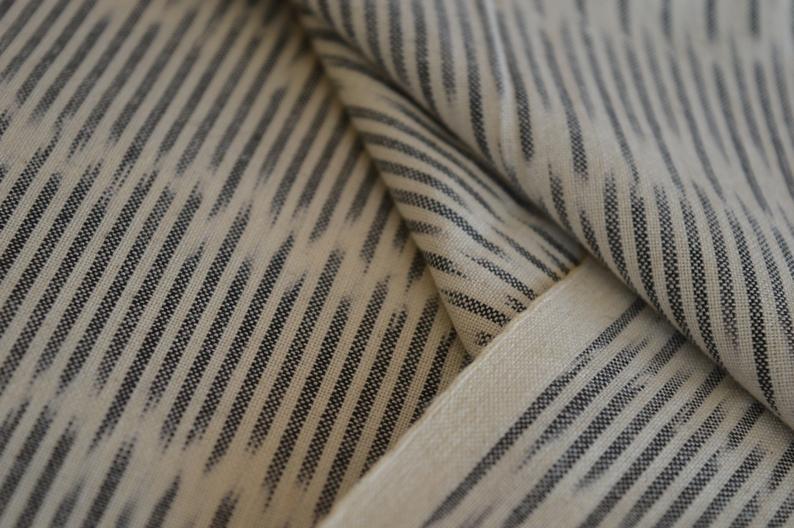 Fine 2 60 Handloom Ikat Fabric Black Fabric Fashion Fabric Etsy