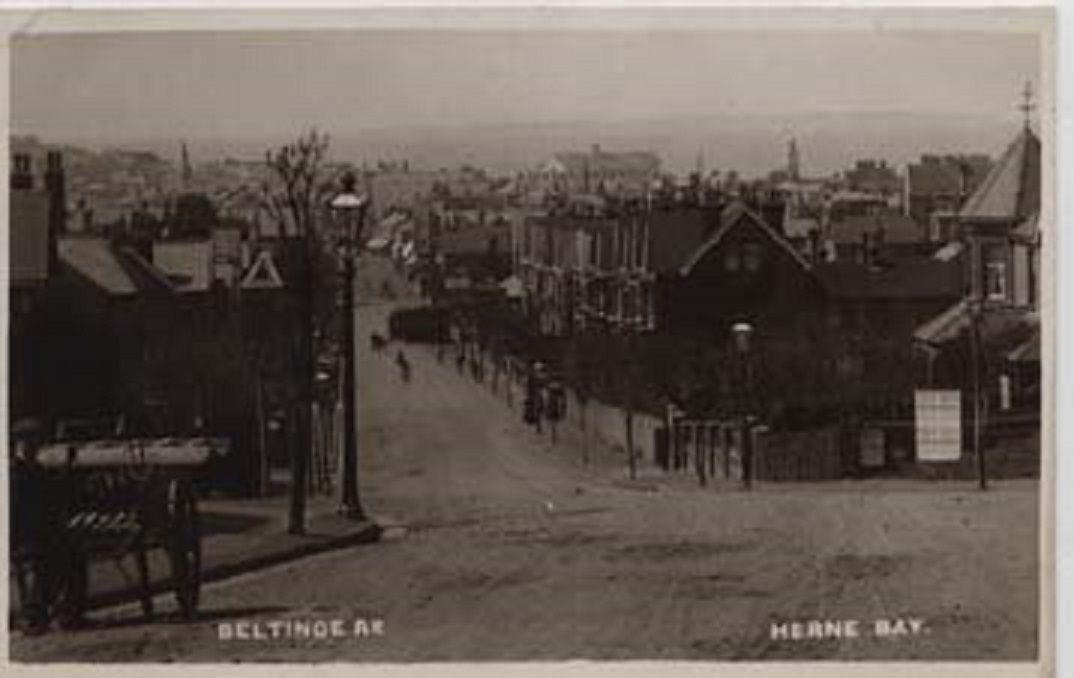 Beltinge road looking towards the town.