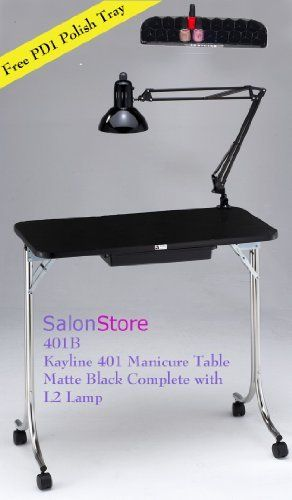 Kayline 401 Portable Mini Nail Table Manicure Table Free Pd1 Polish Tray By Kayline 129 00 Center Drawer For Manicure Table Manicure Manicure Table For Sale