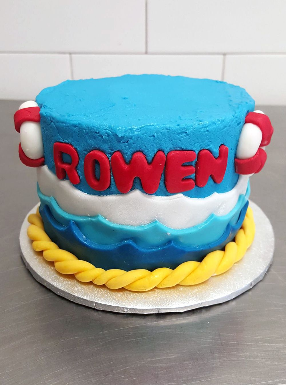 Sea Captain Ship Floating Device Sailing Wave Cake For Boy Birthday
