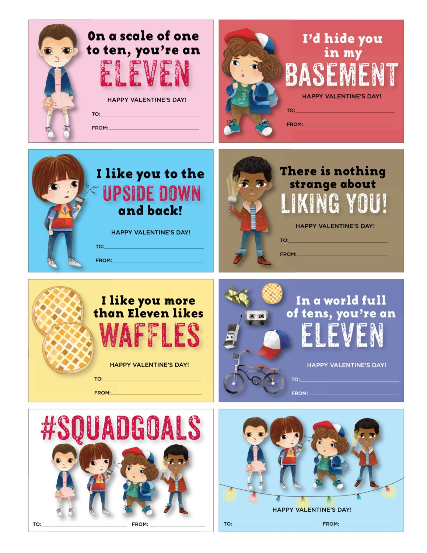 Stranger Kids Valentines Stranger Kids Valentine Cards Cute