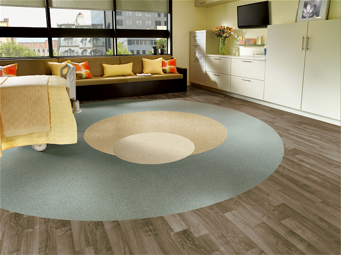 . Armstrong Linoleum floor installation at Harn Flooring and Blinds of