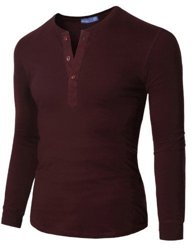 Doublju Mens Long Sleeve Slim Fit Henley Shirts $15.39 (save $13.20)