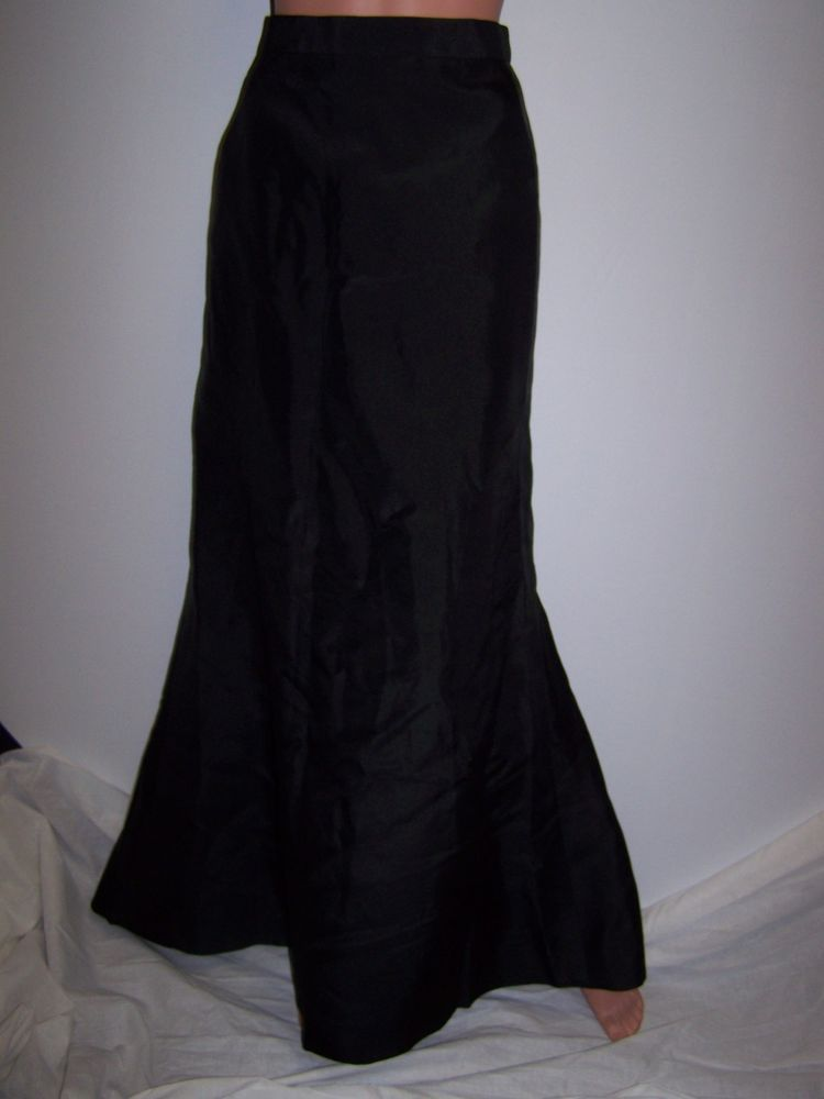 HELEN MORLEY Sz Small/ Med NWT Black Full Length Evening Maxi Skirt $695 Edison #HelenMorley #Maxi