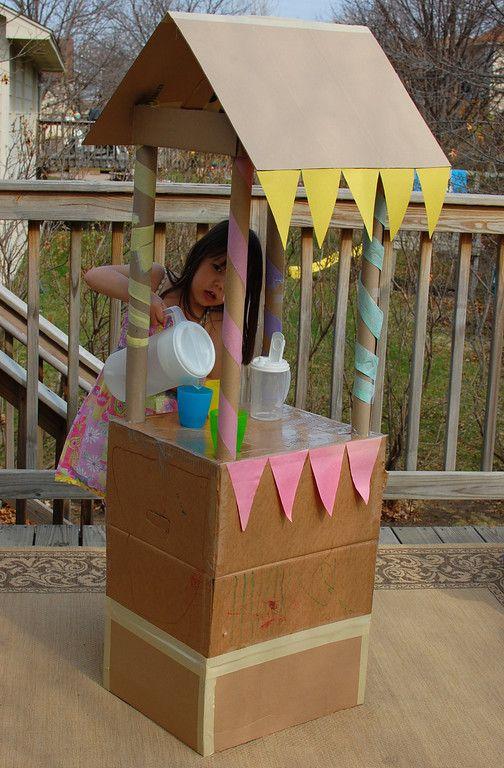 Cardboard Lemonade Stand